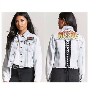 Ac/Dc forever21 plus jean jacket
